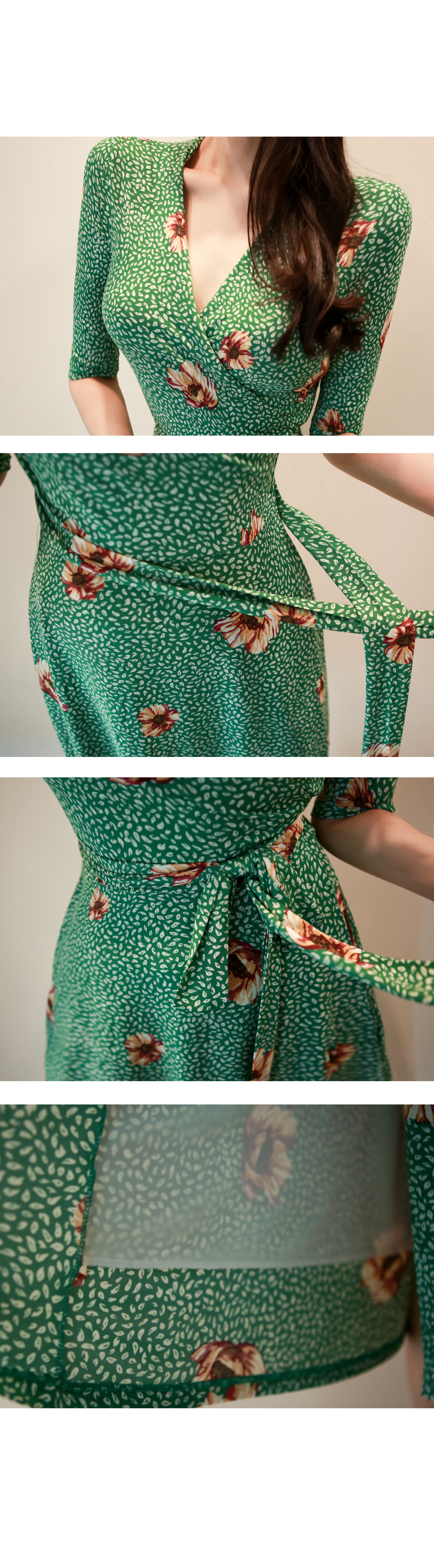 Váy Liền Thu Thun Hoạ Tiết - VL5649